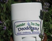 Sample Deodorant scented with Lavender Tea Tree essential oils, antibacterial, natural deodorant