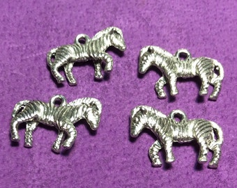 Zebra Pewter Charms