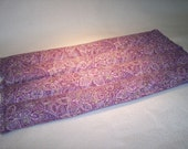 EXTRA LARGE Heat Wrap Microwave Hot or Cold Lumbar Therapy Back Relief Heat Pack in Lavender Paisley