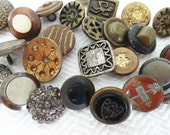 30 Antique Victorian Metal Buttons for Steampunk or Jewelry