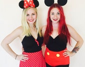 Mickey Mouse Swimsuit Bathing Suit or Minnie Mouse Swim Suit // Mickey Mouse or Minnie Mouse Halloween Costume