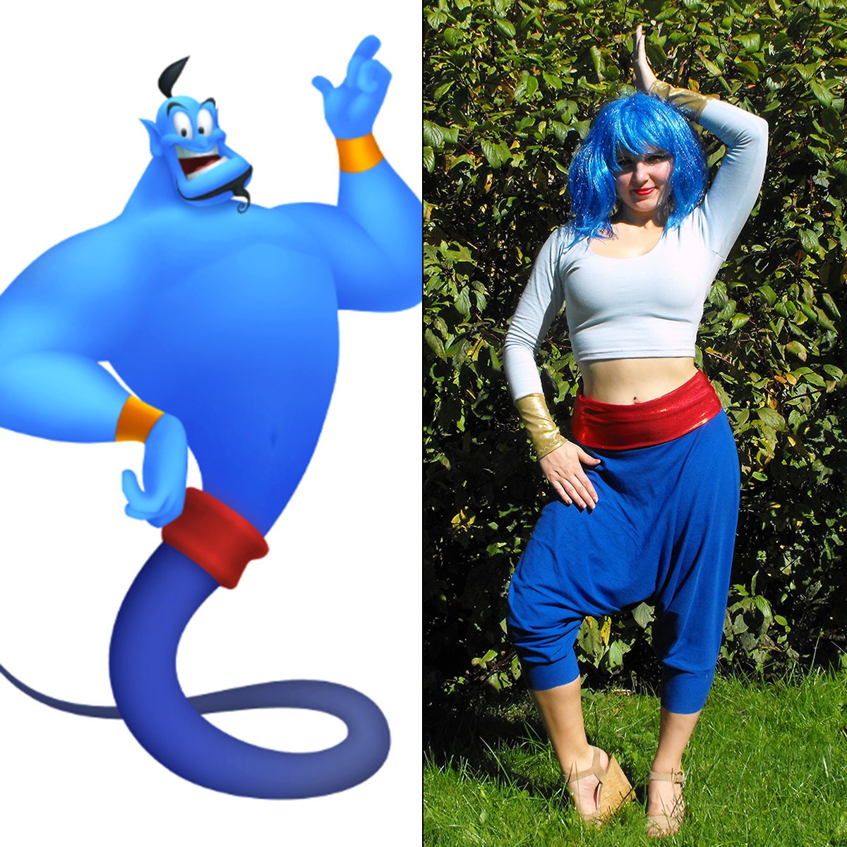 Aladdin Genie Costume // Genie Halloween Costume for Women