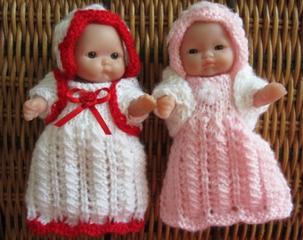 Knitting Pattern Berenguer Baby Doll Lace Gown Set for 5 inch Itty Bitty Berenguer Baby Doll pdf download