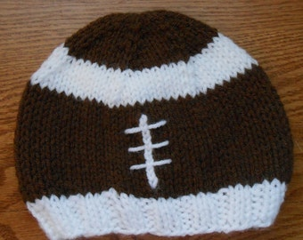 Baby Knitted Football Hat