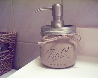 Elite Mason Jar Soap Dispenser. Rustic decor. Farmhouse decor.