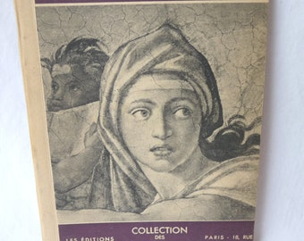 Vintage Michel-Ange book, Collection des Maitres, Paris, Collection of Art, Unique Collectible, Vintage Art, Gift Idea, Printed in France