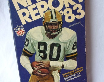 NFL Report '83, vintage paperback, Football, 28 NFL Teams, Scouting Reports, James Lofton, collectible, Sports Fan, stats, football pictures