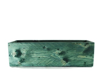 Wood Planter or Centerpiece - Green Wedding , Home Decor , or Garden Box