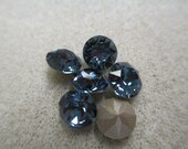 8mm SS39 Denim Blue Chaton Point Back Swarovski Crystals (6 pc)