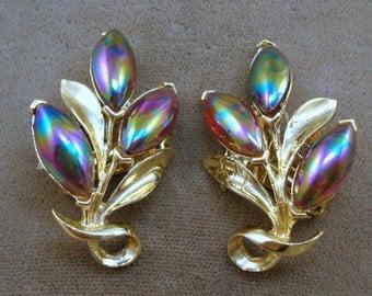 Iridescent Stone Earrings