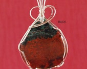 Pendant, Large oval Sonora Sunrise, sterling silver - P251