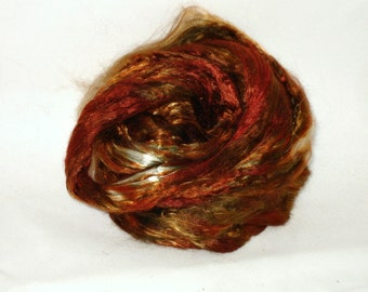 Mulberry Silk-- Mushroom 1/2 oz add in for batts and art roving