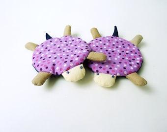 Coaster, Cute Coaster, Turtle Coaster, Fabric Coaster, Handmade Coaster - Set of 4