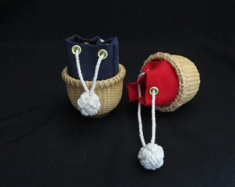 Nantucket Basket Ditty Bag Ornament Kit