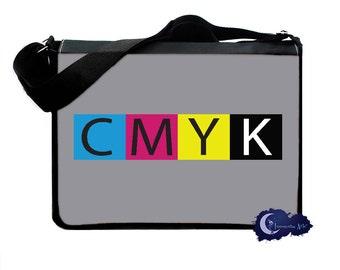 CMYK Artist and Graphic Designer - Messenger and Laptop Computer Bag