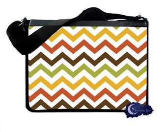 Fall Colors Chevron -  Messenger and Laptop Computer Bag