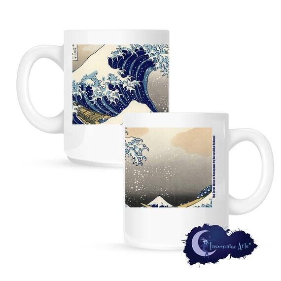 Great Wave by Hokusai - Asian Art 15 oz Coffee Mug
