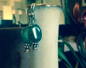 Green Carnelian Earrings