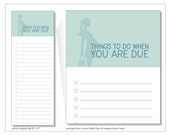 things to do when you are due  notepad // baby shower gift // pregnancy // new baby