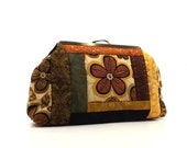 Boho  Handbag Quilted Tribal Spice Autumn Colors Floral