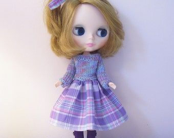 Adorable Dress for Blythe Doll..hand knitted sweater top