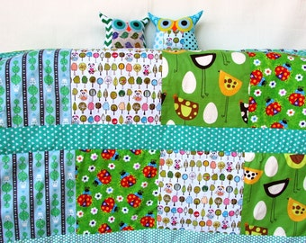 Baby blanket /Patchwork blanket/  for baby/ kids / for him /shower gift /Ready to ship/Express shipping