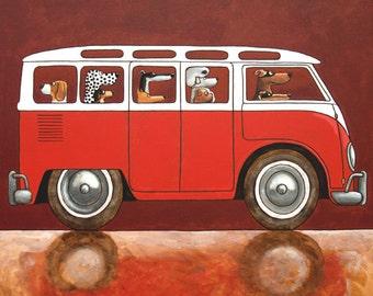 """015 VW Samba – print 14x14cm/5.5x5.5"""""""