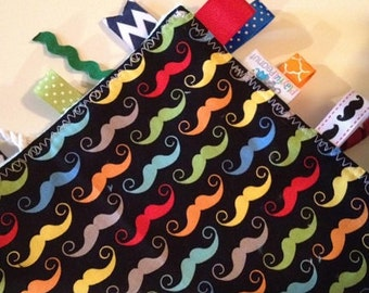 Sensory Rag | Security Blanket | Lap Blanket | Tags | Lovey|  Geekly Moustaches