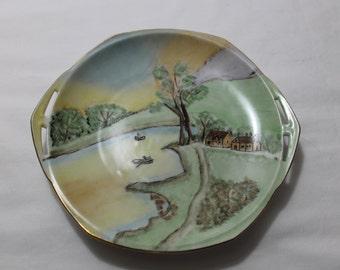 Vintage Mz ALTROHLAU Hand Painted Decorative Porcelain Plate, Czechoslovakia