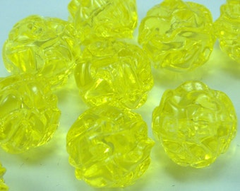 20 pcs15 mm  Vintage  Plastic beads, Round Lucite Beads , Jewelry Supplies, Findings