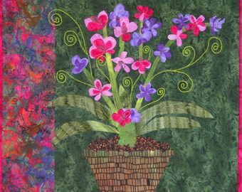 Blooming With Joy Art Quilt