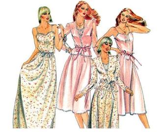 Camisole Dress Pattern Butterick 3911 Jacket & Feminine Maxi Dress Knee Length Slip Sundress Womens Sewing Pattern Size 8 Vintage Pattern
