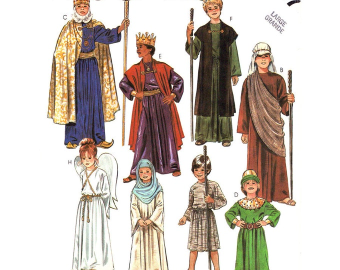 Nativity Costume Pattern McCalls 2067 Angel Shepherd Wise Men Child Size 12 14