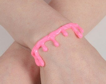 Putrid Pink Blood Drip Bracelet  - 2 Pc Set Von Erickson's Original