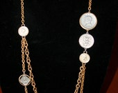 Long layered coin necklace