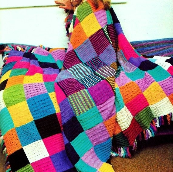 INSTANT DOWNLOAD PDF Knitting Pattern for Squares Patchwork