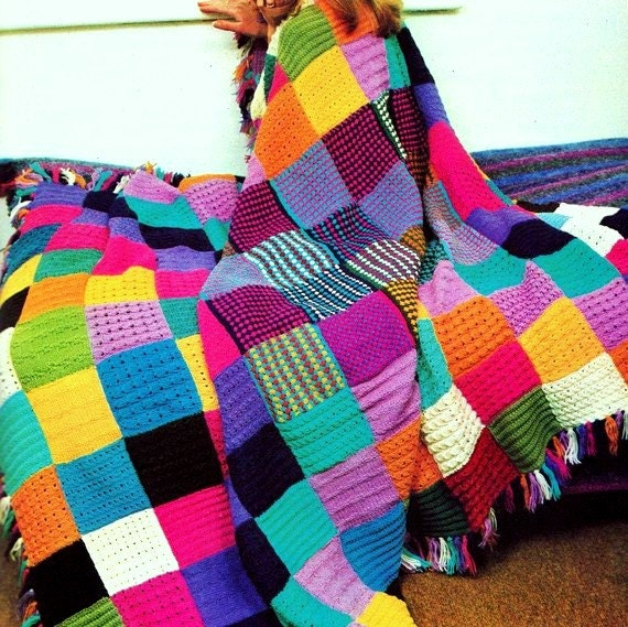 Peggy Square Knitting Patterns : INSTANT DOWNLOAD PDF Knitting Pattern for Squares Patchwork