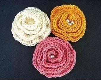INSTANT DOWNLOAD Crochet Pattern PDF 57-Crochet Pattern Flower- Big Elegant Flower or Brooch