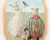 L'Entourage de Mademoiselle Paniers (print mounted on wood)
