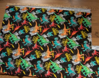 "sweatshirt fleece fabric DINOSAURS 59"" x 37"" /19 1/2"" x 26"" children boy girl"