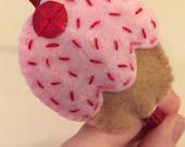 Fresh Frosting Eco Felt Pink Cupcake Headband Fascinator