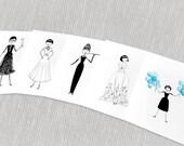 Audrey Hepburn note cards // PDF Printables