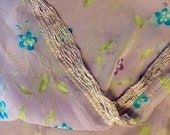Very Soft Lavender Scarf with Fringed Ends