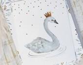 Swan Birthday Party Invitation