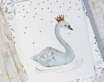 Swan Birthday Party Invitation