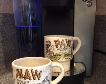 Vintage Cool Coffee Cup Set