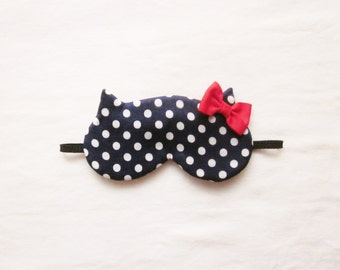 Red Bow Silk Cat Eye Mask