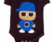 Rad Rapper - Clock - Infant Bodysuit [BLACK]