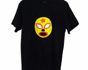 Luchador Amarillo - Yellow Mexican Wrestler Men's T-Shirt