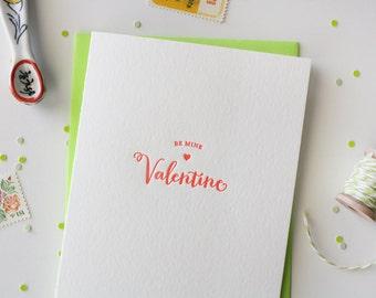 Letterpress Valentine Card // Be Mine Valentine
